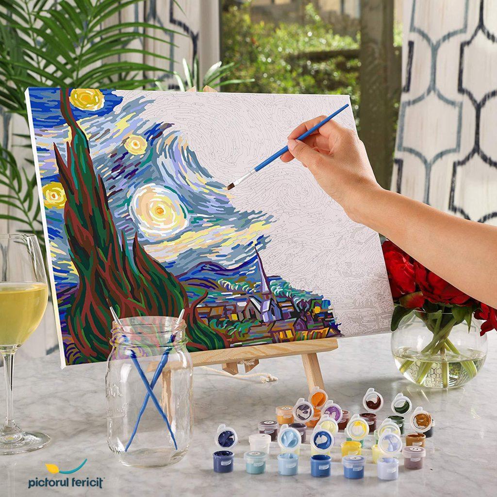 pictura pe numere celebra pictorul fericit